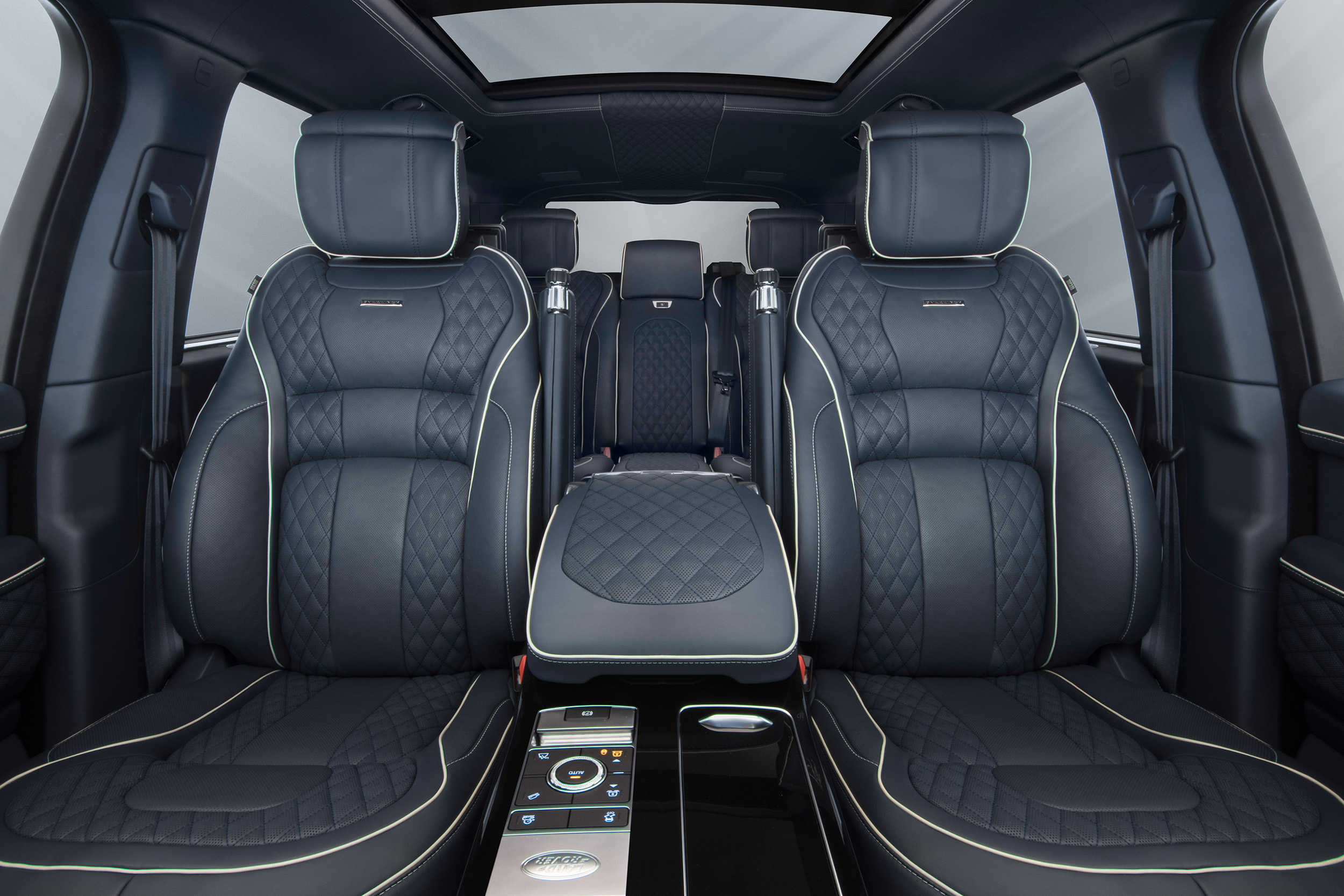 Navy Overfinch Lumiere seats front view