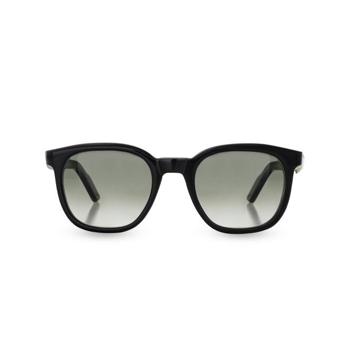 Front view of Overfinch Kirk originals Sunglasses in Black