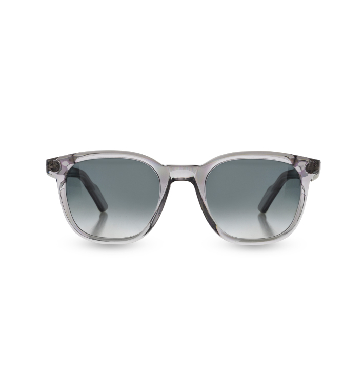 Front view of Overfinch Kirk Originals Sunglasses in clear
